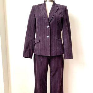 H&M Purple Corduroy Pantsuit. Size 6